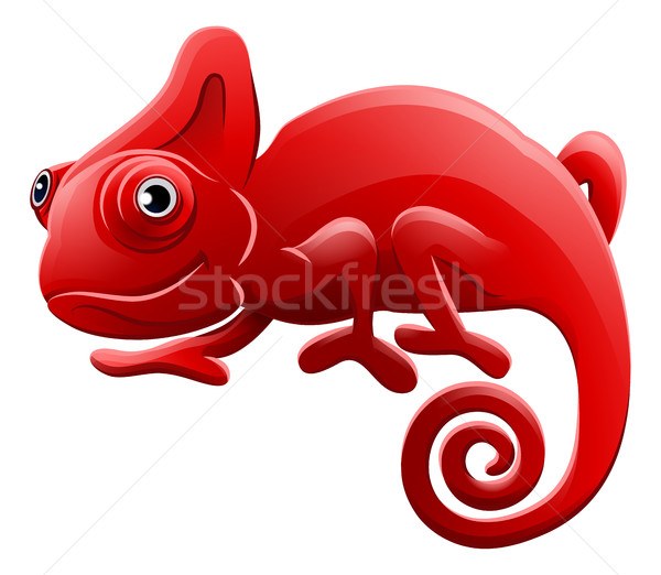 Chameleon Animal Cartoon Character Stock photo © Krisdog