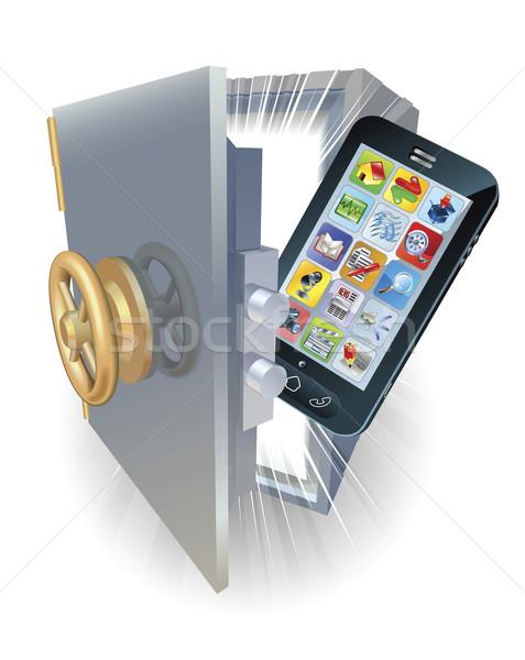 電話 保護 插圖 新 手機 保護 商業照片 © Krisdog