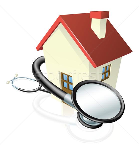 Haus Stethoskop Eigentum Wartung andere Immobilien Stock foto © Krisdog