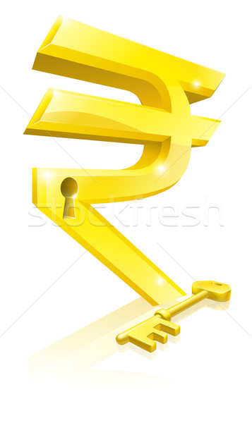 Rupee key lock concept Stock photo © Krisdog