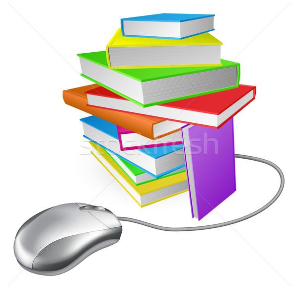 Book stack computer mouse Stock photo © Krisdog