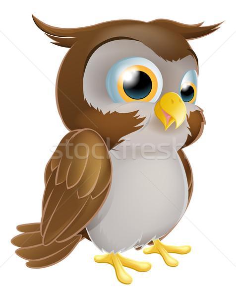 Cute Cartoon owl Stock photo © Krisdog