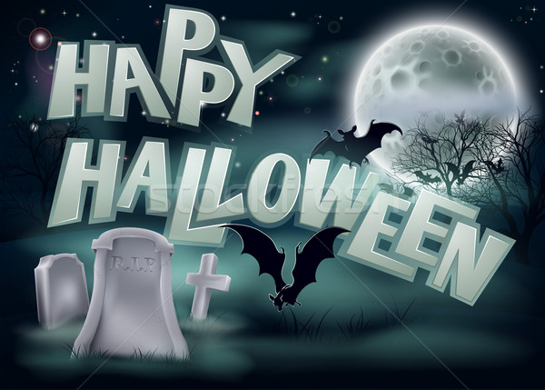 Happy Halloween Illustration Stock photo © Krisdog