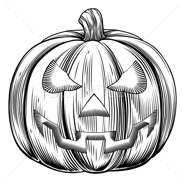 Vintage halloween pumpkin Stock photo © Krisdog