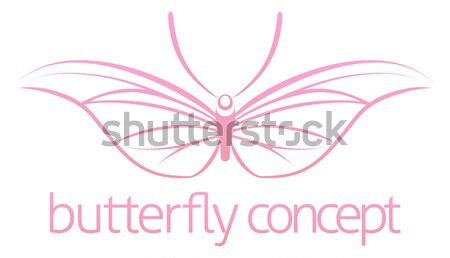 Stylised butterfly Stock photo © Krisdog
