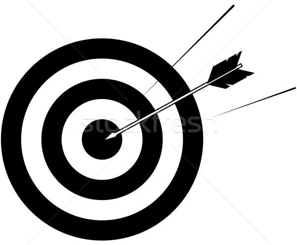 target and arrow illustration Stock photo © Krisdog