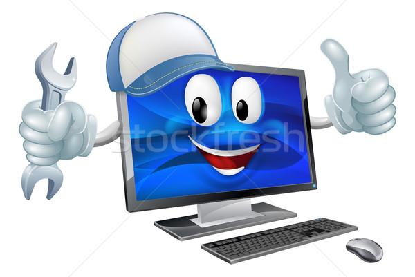 Reparação de computadores computador mascote Foto stock © Krisdog