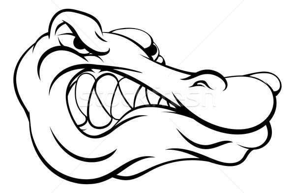 аллигатор крокодила талисман спортивных голову Сток-фото © Krisdog