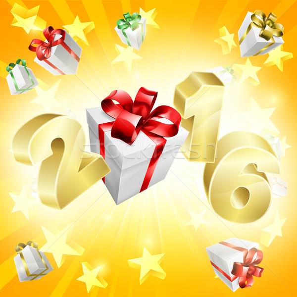 2016 Gifts Background Stock photo © Krisdog