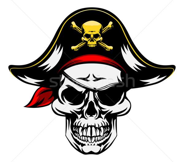 Skull Pirate Mascot Stock photo © Krisdog