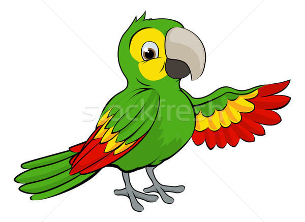 Green Cartoon Parrot Stock photo © Krisdog