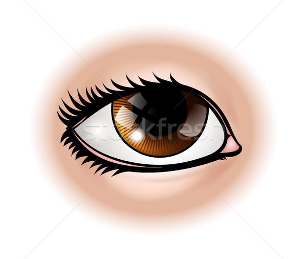 Szem testrész illusztráció emberi szemek test Stock fotó © Krisdog