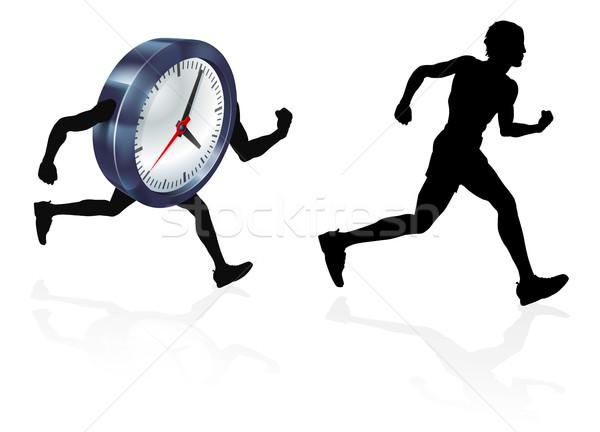 Time Race Against Clock Concept Stock photo © Krisdog