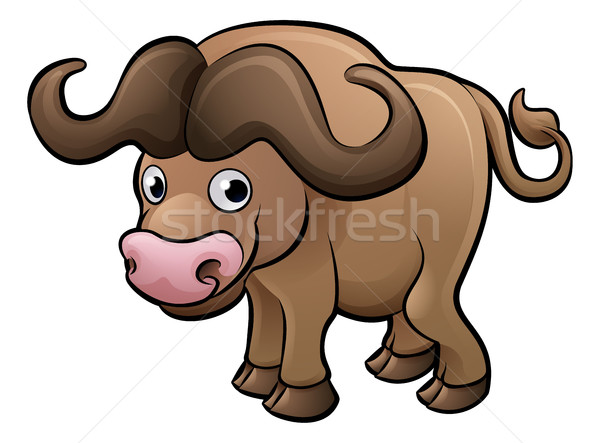 Bison Safari Animals Cartoon Character Stock photo © Krisdog
