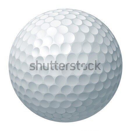 Balle de golf illustration traditionnel blanche art balle Photo stock © Krisdog