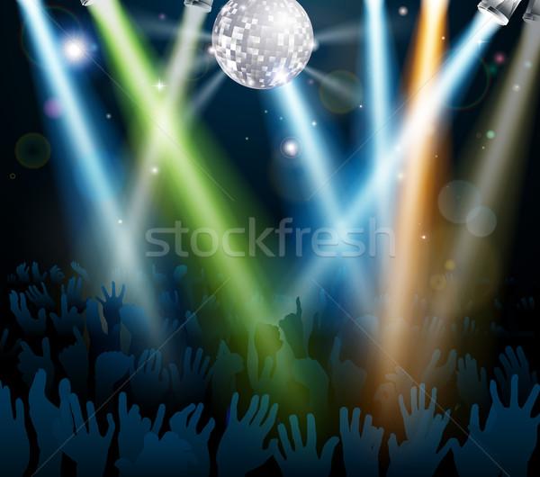 Miroir balle piste de danse foule danse concert Photo stock © Krisdog