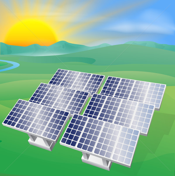 Solar power energy illustration Stock photo © Krisdog