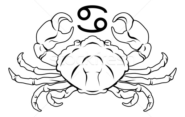 Cancer zodiac horoscope astrology sign Stock photo © Krisdog
