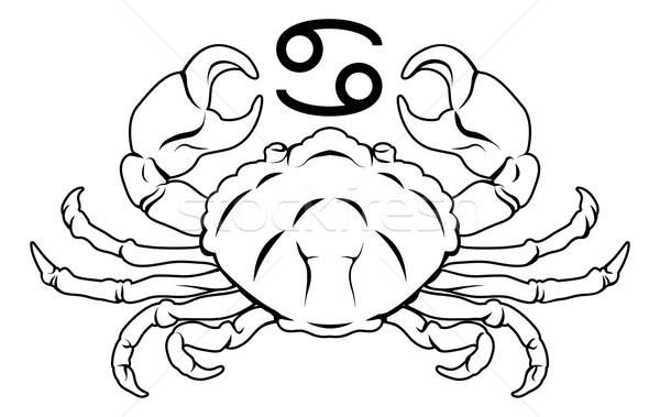 Câncer zodíaco horóscopo astrologia assinar ilustração Foto stock © Krisdog