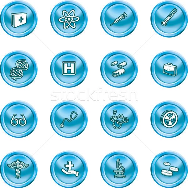 medicine and science icons Stock photo © Krisdog