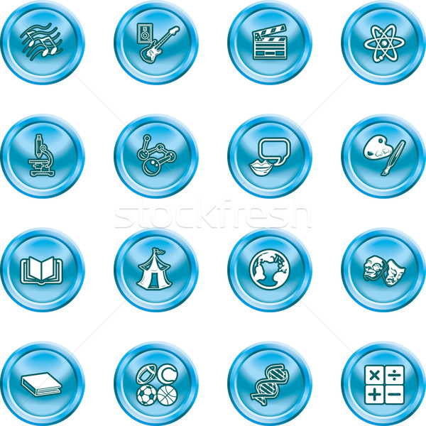 subject category icon set Stock photo © Krisdog