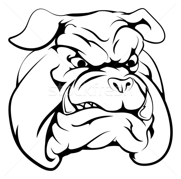 Bulldog mascot character Stock photo © Krisdog