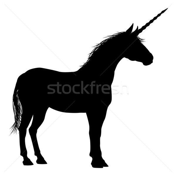 Unicorn Silhouette Stock photo © Krisdog
