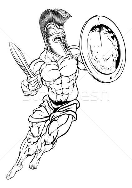 Roman Gladiator Stock photo © Krisdog