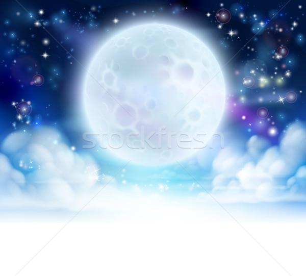Moon Sky Header Background Stock photo © Krisdog