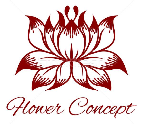 Flower Floral Design Concept Icon Stock photo © Krisdog
