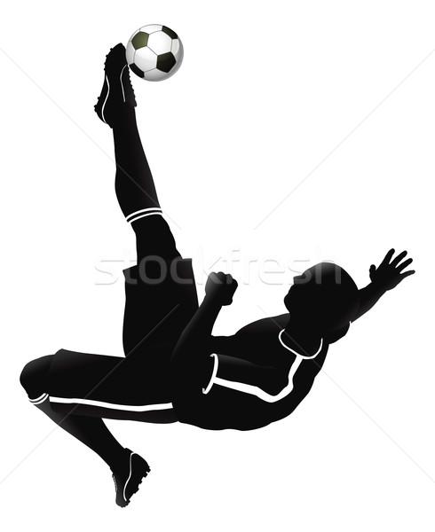 Soccer football player illustration Stock photo © Krisdog