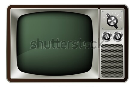 Retro TV Illustration Stock photo © Krisdog