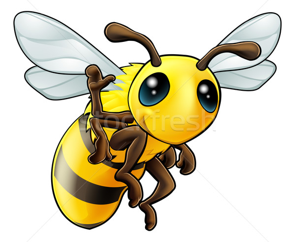 Gelukkig cartoon bee illustratie cute Stockfoto © Krisdog
