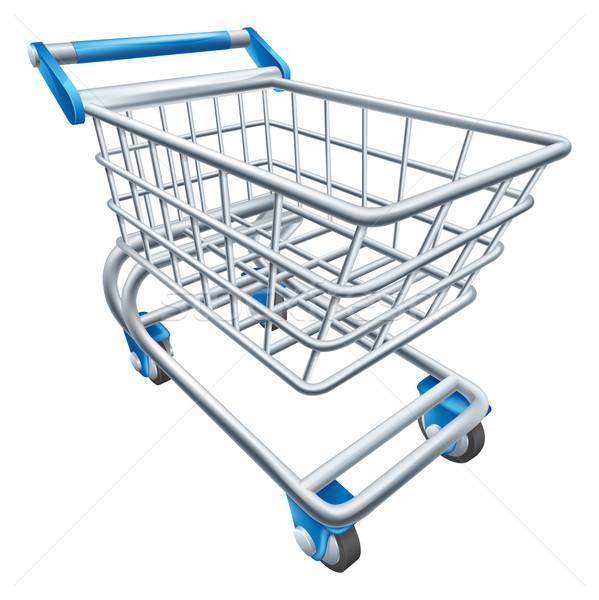 Supermercado cesta de la compra ilustración alambre tienda blanco Foto stock © Krisdog