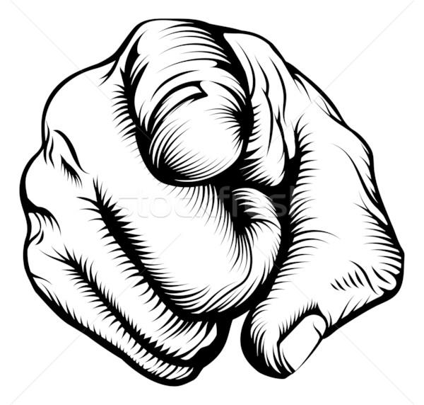 Hand pointing at viewer Stock photo © Krisdog