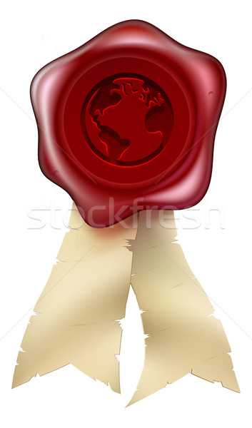 World globe wax seal Stock photo © Krisdog