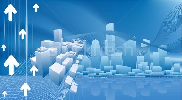 Város üzlet városi városkép fény kék Stock fotó © Krisdog