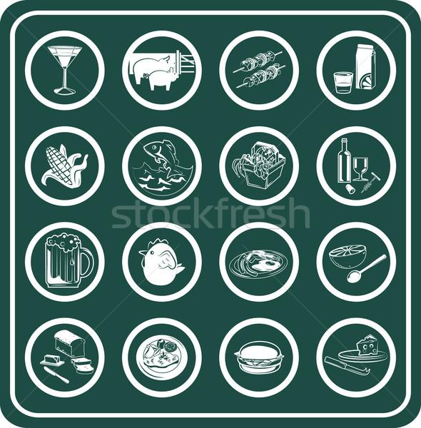 Food and drink icons Stock photo © Krisdog