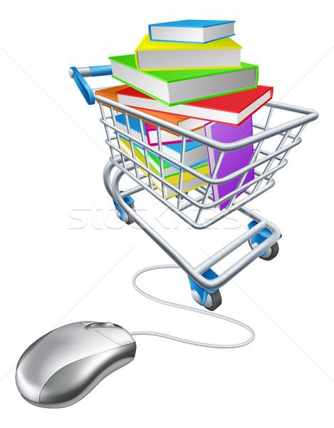 Online education or internet book shopping Foto stock © Krisdog