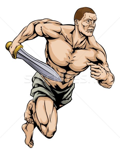 Gladiator warrior Stock photo © Krisdog
