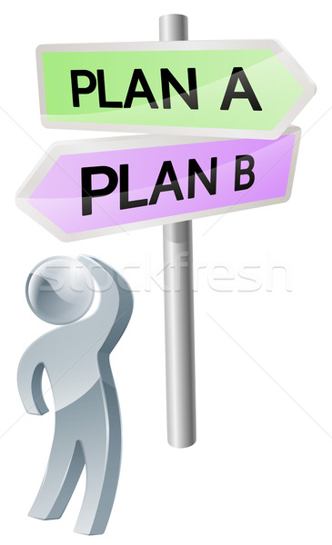 Plan A or Plan B decision Stock photo © Krisdog