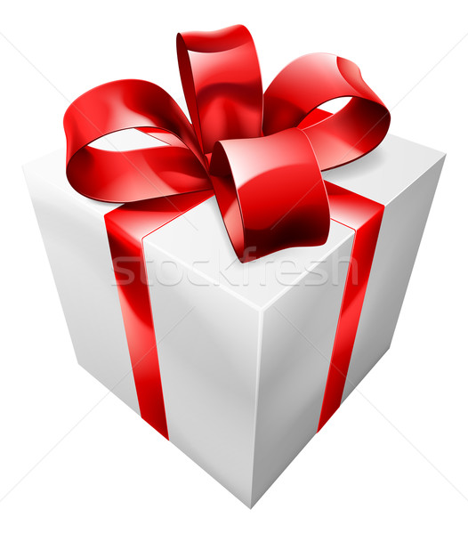 Red and white gift Stock photo © Krisdog