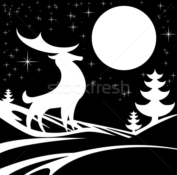 Winter Stylised Background Stock photo © Krisdog