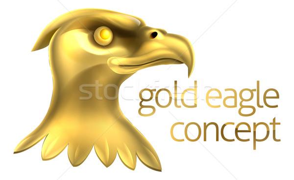 Gold Eagle Head Concept Stock photo © Krisdog