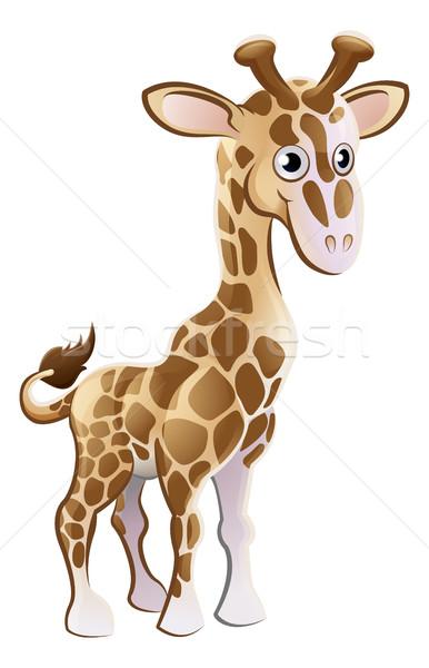 Zsiráf állat rajzfilmfigura aranyos kabala baba Stock fotó © Krisdog
