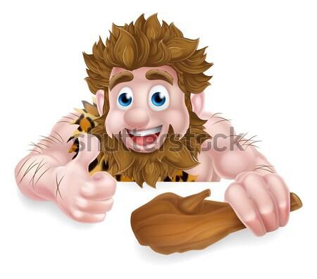 Caveman Cartoon Stock photo © Krisdog