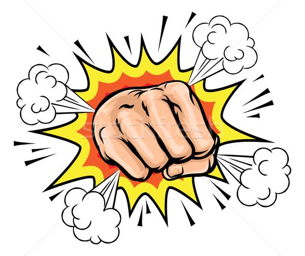 Exploding Cartoon Fist Stock photo © Krisdog