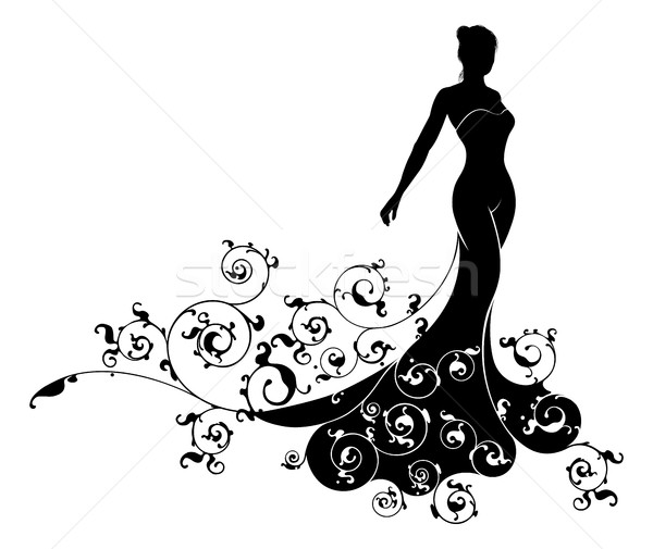 Wedding Bride Silhouette Design Stock photo © Krisdog