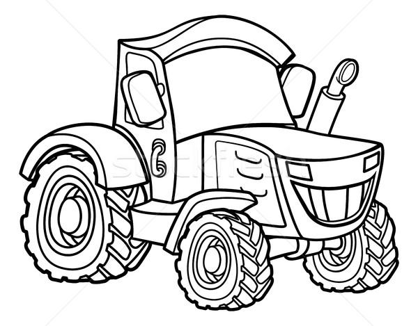 Cartoon Farm Tractor Stock photo © Krisdog