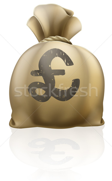 Pound sterling sign sack Stock photo © Krisdog